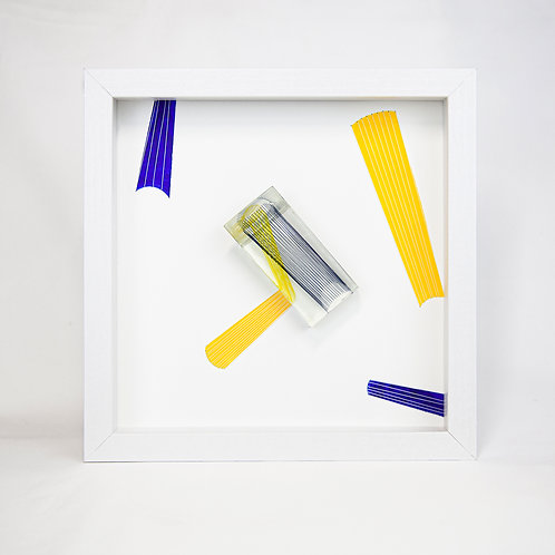 Crossing Cylinder Resin Wall Art