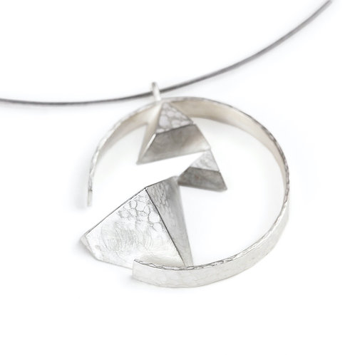 Circled Triangles Necklace