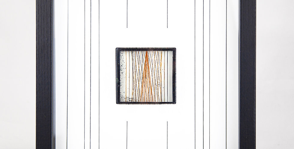 Orange Cone & Vertical Stripe Resin Wall Art