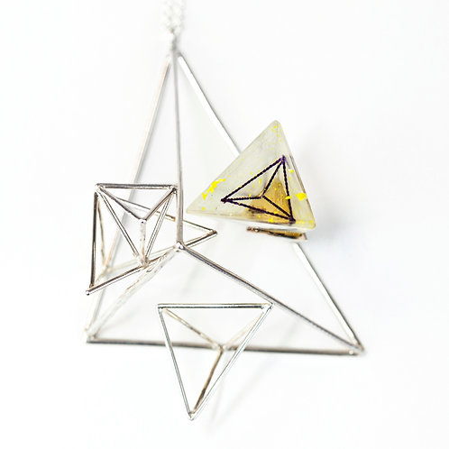 Wire Structure Pendant with Resin