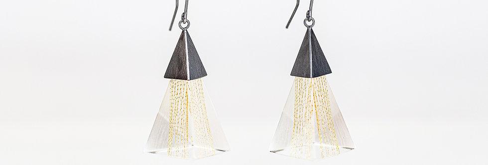 Triangle Resin Dangle Earrings
