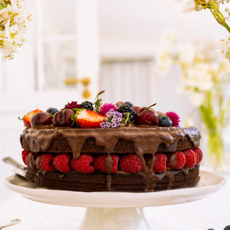 Teff and Coconut Chocolate Cake