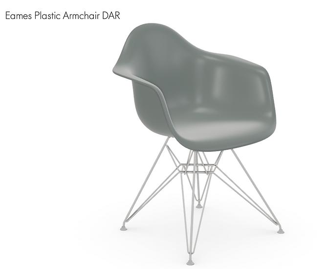 VITRA | Eames Plastic Armchair DAR. Light grey