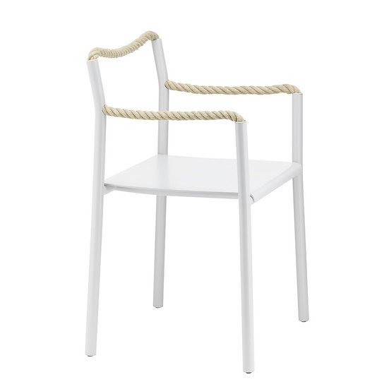 VITRA | Rope chair, light grey