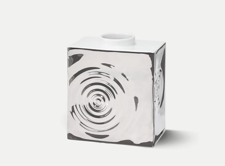 KPM | Vase CADRE 3 Drop PLATIN EDITION Glanzplatin