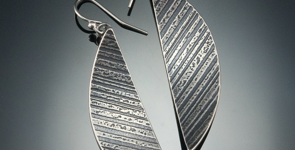 Silver Arc Earrings