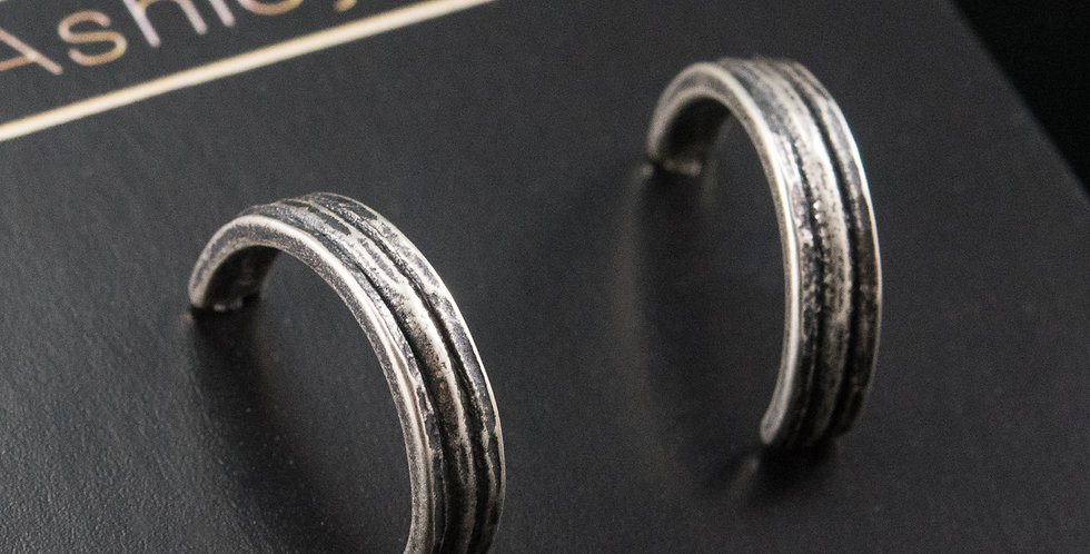 Small Silver Trilogy Hoops