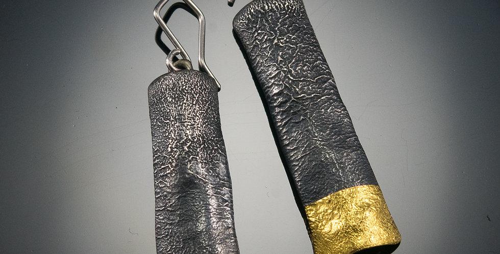 Black & Gold Totem Earrings