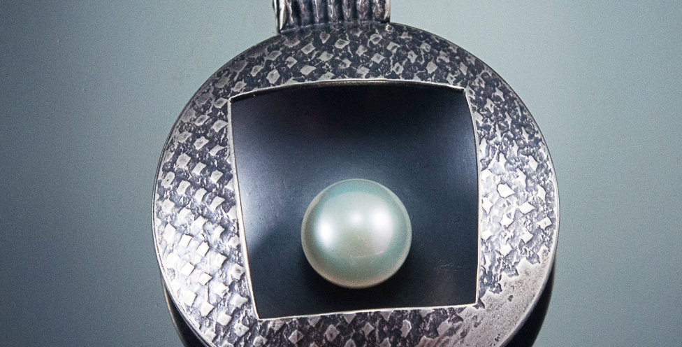 Silver Pearl Nest Hollow Pendant