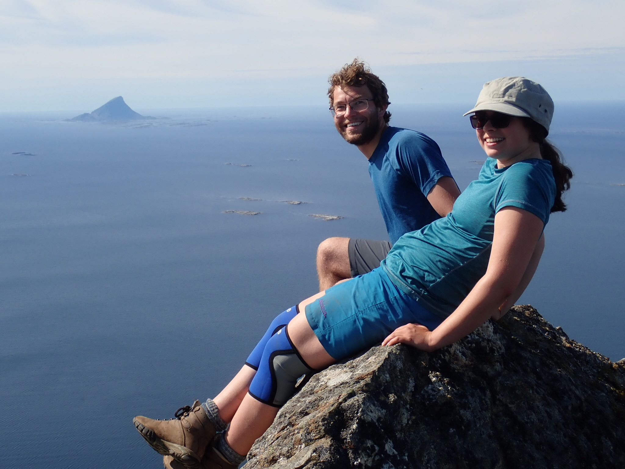 Callum and Amy atop Hestmona, Helgeland