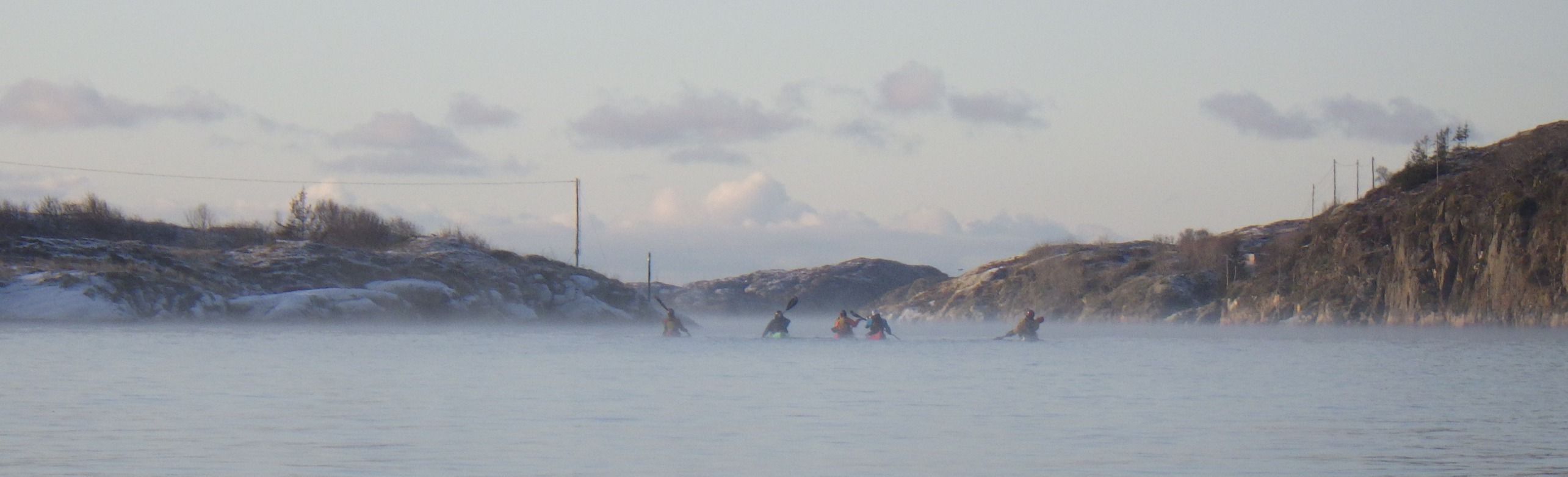 Paddling at -10'C at Hitra, on the way to rockhopping