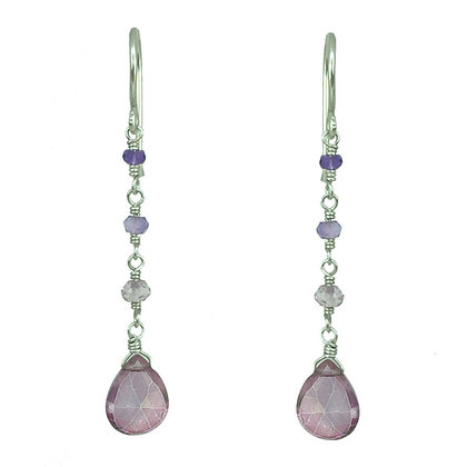 Pink Mystic Drop Earring
