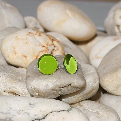 Glass Button Stud Earrings