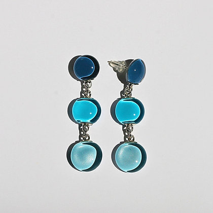 Glass Triple Drop Earrings