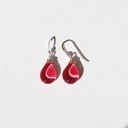Glass Mini Teardrop Earrings