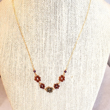 Mozambique Garnet Fleurettes Necklace