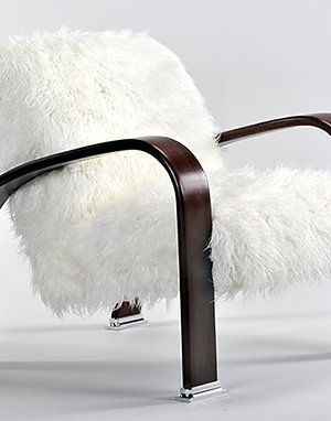 Mongolian Fur Lounge Chair