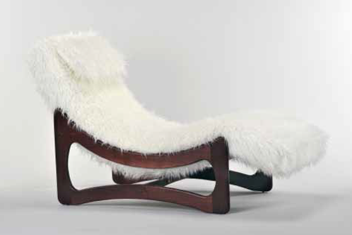 Mongolian Fur Chaise Lounge