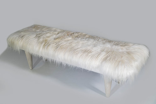"60"" Icelandic Fur Bench"