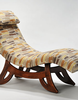 Paint Strokes Chaise Lounge