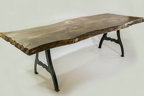 Live Edge Dining Table with EB Casted Legs