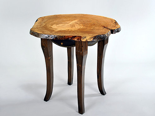 Classic Burl Wood High Top Table (one of a kind)