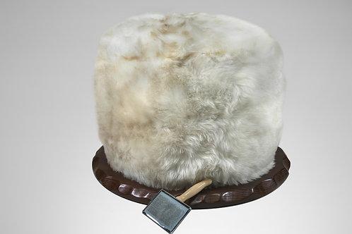 Sheepskin Swivel Poof Seat