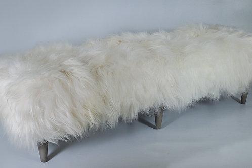 """84"""" Icelandic Fur Bench"""
