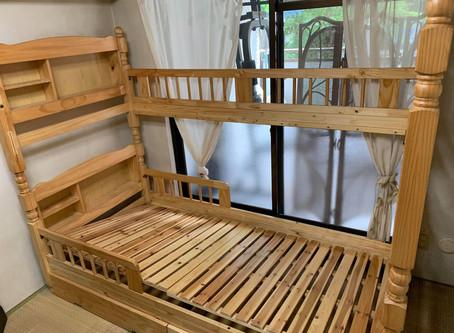 二段ベッドの解体及び回収作業