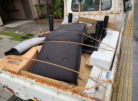 軽トラックの回収作業