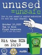 Hit the Bin Drug Drop – October 10, 2020
