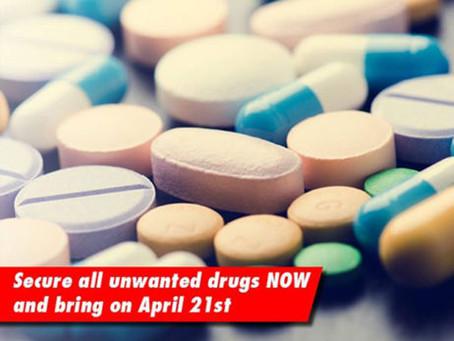 Drug Drop Event – April 21 and April 28, 2018