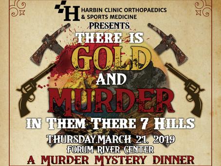 Murder Mystery Dinner & Silent Auction – Thursday, March 21, 2019