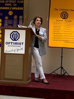 Floyd Against Drugs Executive Director Speaks at Noon Optimist Club