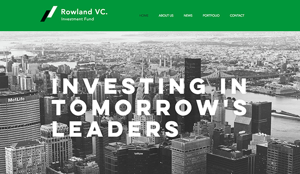 Business website templates – Investment Firm