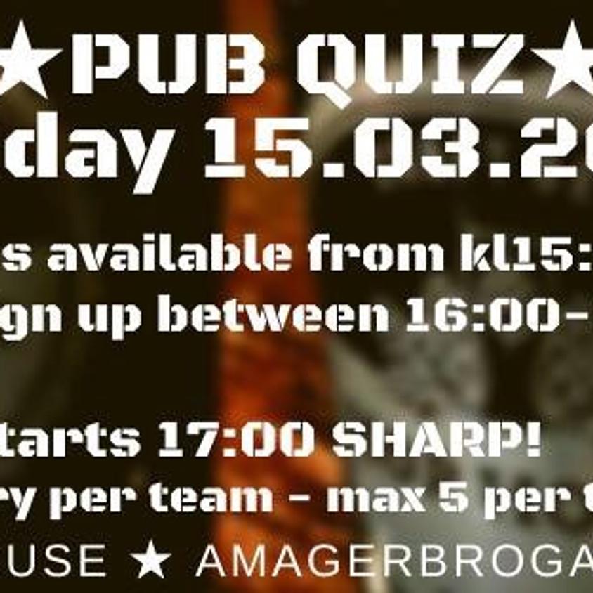 Pub Quiz & Hot Pies!