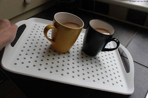 StayPut Anti-Slip Tray - White / Grey - Large