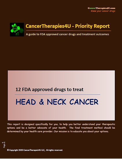 HEAD & NECK CANCER - FDA approved drugs & results from clinical trials