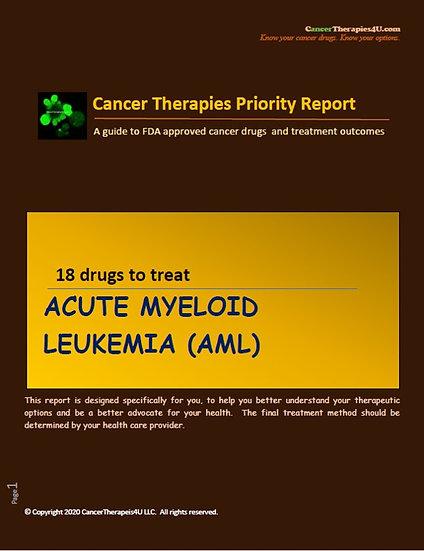 ACUTE MYELOID LEUKEMIA: treatments, side effects and outcomes