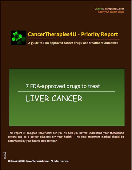 LIVER CANCER - FDA approved drugs & results from clinical trials