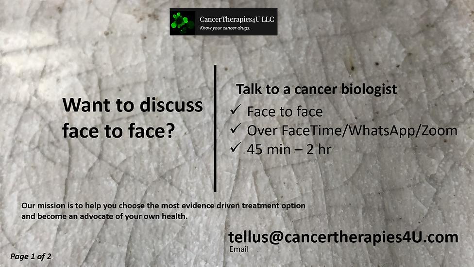 DIRECT CONSULTATION - CancerTherapies4U LLC