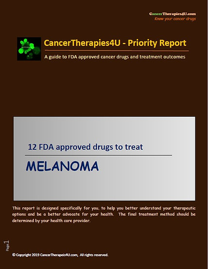 MELANOMA - FDA approved drugs & results from clinical trials