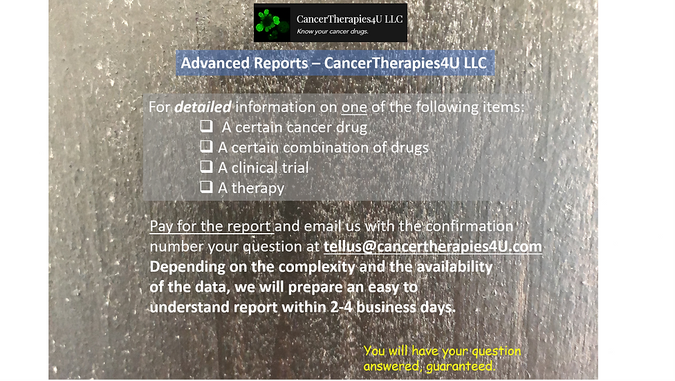 ADVANCED REPORT - CancerTherapies4U LLC