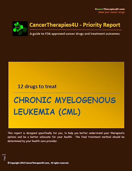 CHRONIC MYELOGENOUS LEUKEMIA: treatments, side effects and outcomes