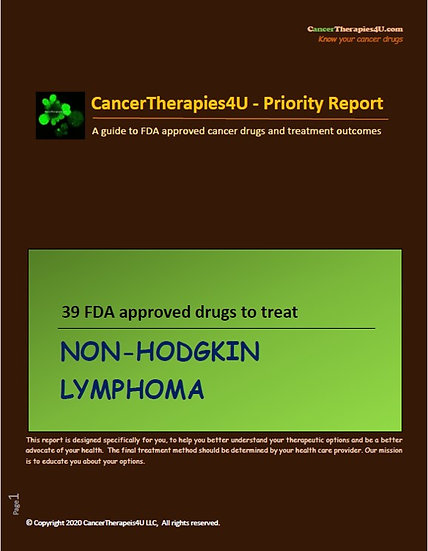 NON-HODGKIN LYMPHOMA - FDA approved drugs & results from clinical trials