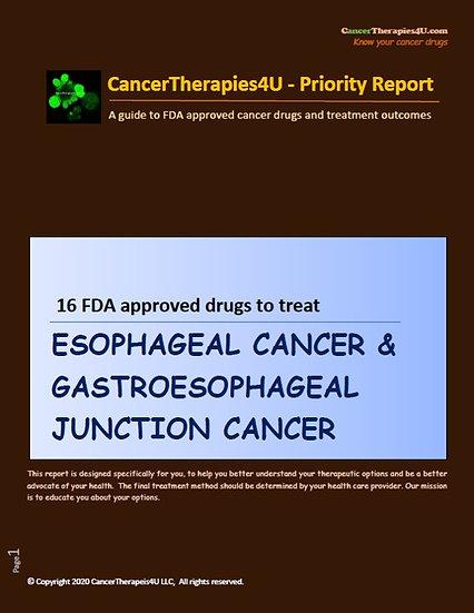 ESOPHAGEAL CANCER & GASTROESOPHAGEAL  JUNCTION  CANCER - FDA approved drugs
