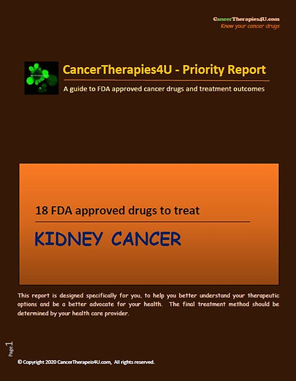 KIDNEY CANCER - FDA approved drugs & results from clinical trials