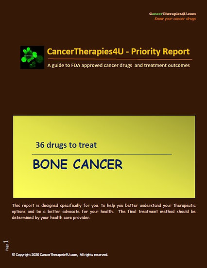 BONE CANCER: treatments side effects and outcomes