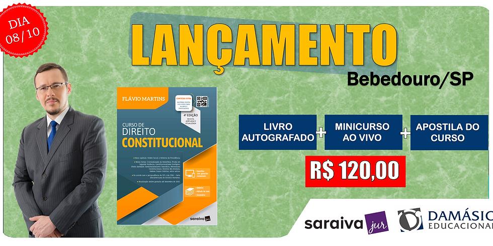 LANÇAMENTO: BEBEDOURO/SP - 08/10
