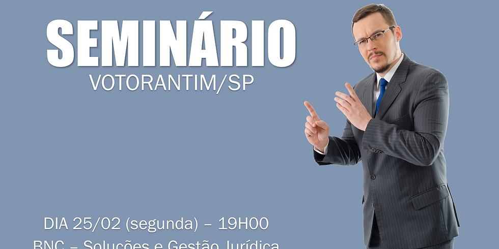 SEMINÁRIO - VOTORANTIM/SP